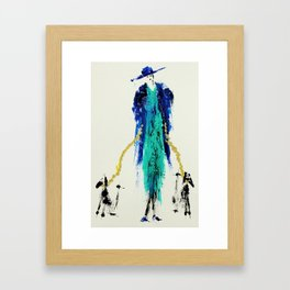 Fancy Lady with Dogs Framed Art Print