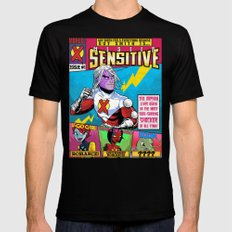 Mister Sensitive #1 SMALL Black Mens Fitted Tee