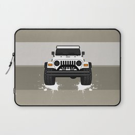 [JEEP] White TJ Laptop Sleeve