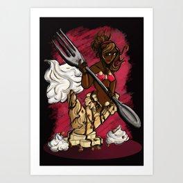 Crepe-maid Art Print