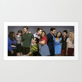 Glee Art Print