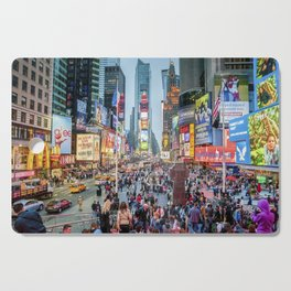 Times Square Tourists Cutting Board