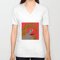 melissa smith V-neck T-shirts featuring Smith Eyed by Roland Lefox