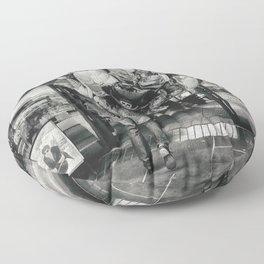 Balloons street photo Floor Pillow