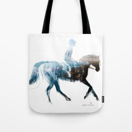 Horse (Canter on the beach) Tote Bag