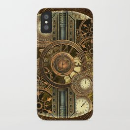 Steampunk, awesome clocks iPhone Case
