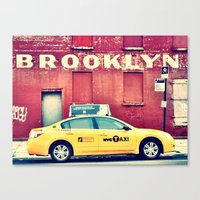 brooklyn Canvas Prints featuring Brooklyn  by Pinkspoisons