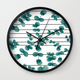 eucalypatus pattern Wall Clock