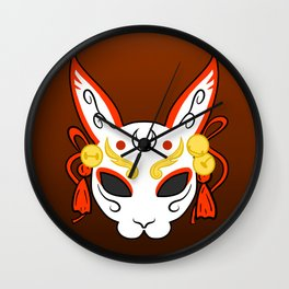Usagi Mask Wall Clock