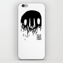 Disappearing Face - Black iPhone Skin