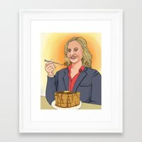 leslie knope Framed Art Prints featuring Leslie Knope by Cara Andrianos