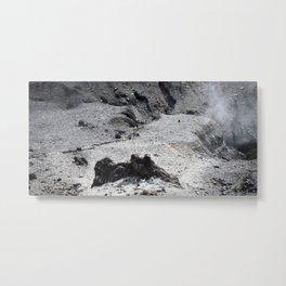 PEOPLE IN THE MIDDLE OF VOLCANOES Metal Print
