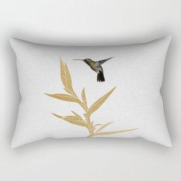 Hummingbird & Flower II Rectangular Pillow