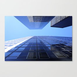 Blue Buildings - Tall Skyscrapers Canvas Print