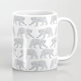Polar Bears geometric trendy kids bear pattern print for boy or girl gender neutral Coffee Mug