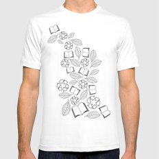 recycle reuse White MEDIUM Mens Fitted Tee