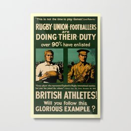 British rugby, football players call for duty Metal Print