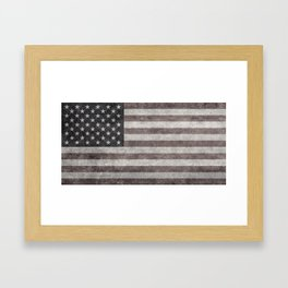 US Flag in vintage retro style Framed Art Print