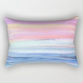 Pastel Ocean Sunset Abstract Rectangular Pillow