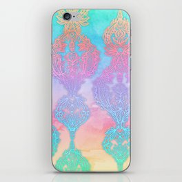 The Ups and Downs of Rainbow Doodles iPhone Skin