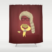 sam smith Shower Curtains featuring Sam by John McKeever