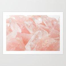 Pink Rose Quartz Art Print