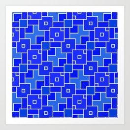 pattern squad Art Print