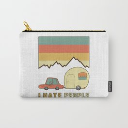I Hate People Humans Holiday Sloth Camper Camping Design Carry-All Pouch