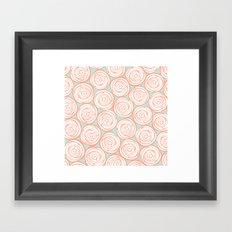 Sweet roses Framed Art Print