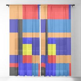 Mondrian #2 Sheer Curtain