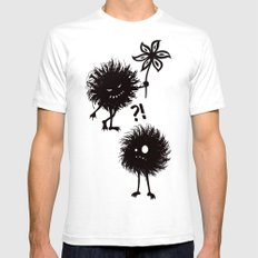 Kind Evil Bugs Mens Fitted Tee SMALL White