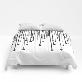 Abstract hand drawn black white water drops  Comforters