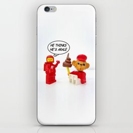 "space lego meeting the ""arale wannabe"" monkey iPhone Skin"