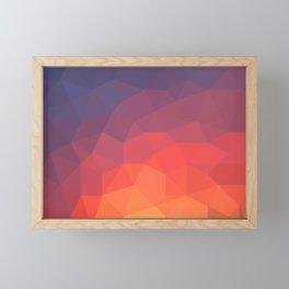 Flame Low Poly Framed Mini Art Print