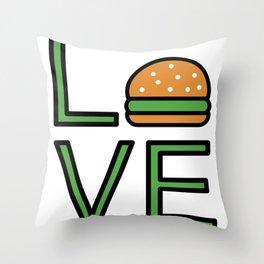 Love Burgers Super Cute And Fun Love Gift Idea Throw Pillow