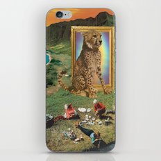 The giant cat and magical frame iPhone Skin