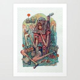 The Art of Self-Isolation  Art Print
