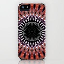 Rustic Mandala Design iPhone Case