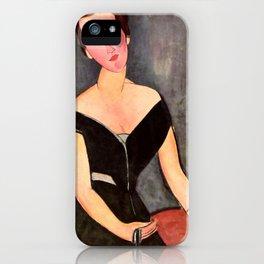"""Amedeo Modigliani """"Portrait of Madame Georges Van Muyden.jpg iPhone Case"""