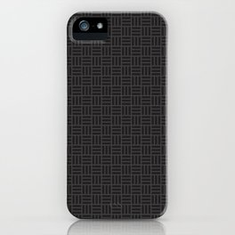 Black Pattern iPhone Case