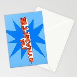 I'm Dynamite (light blue) Stationery Cards