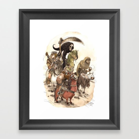 Four Horsemen Framed Art Print