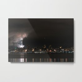 Happy New Year from Seattle. Metal Print
