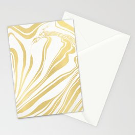 Bronze Copper Gold Rush Marble Ink Swirl Stationery Cards