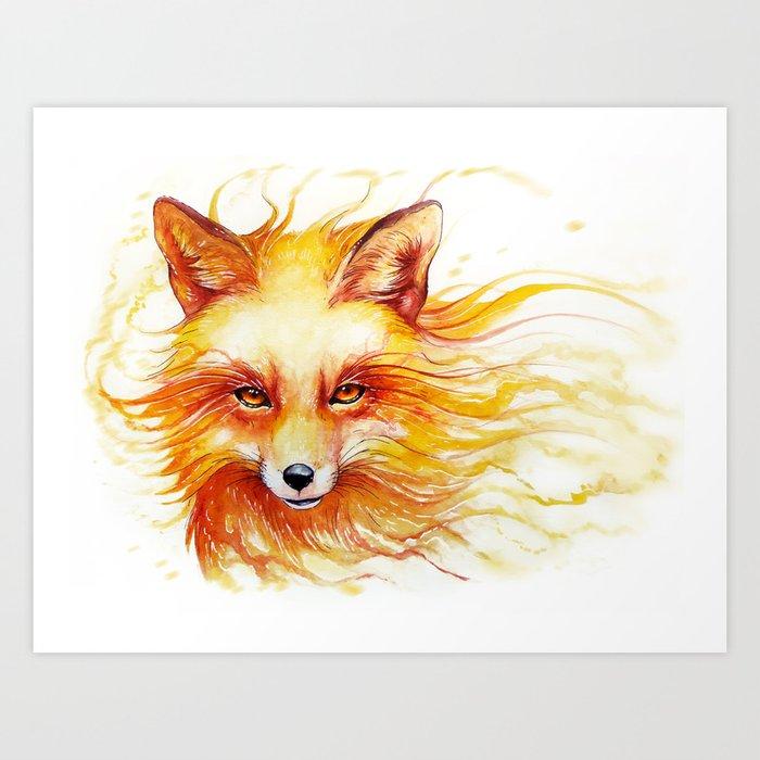 """Spirits of the Seasons - Autumn"" Art Print"