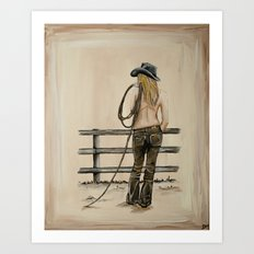 Cowgirl Art Print