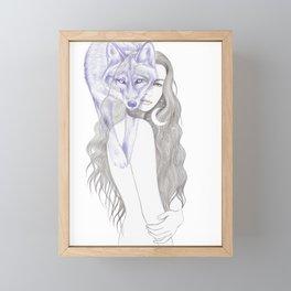 Wolf Woman Framed Mini Art Print