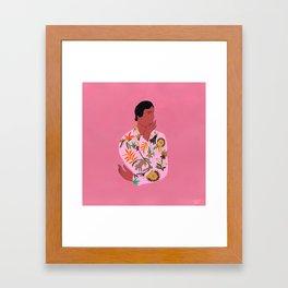 Tigra Tigra Hand-Embroidered Dress Framed Art Print