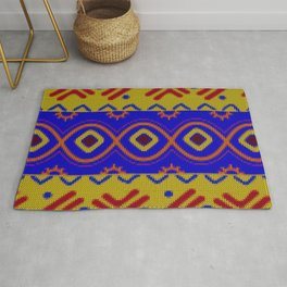 Ethnic African Knitted style design Rug
