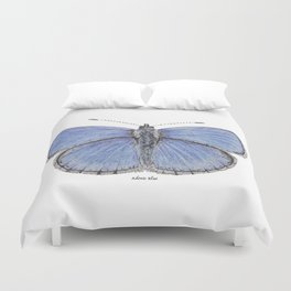 Adonis Blue Butterfly Duvet Cover